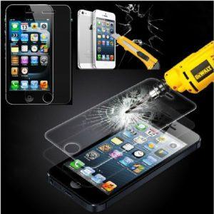 Protector-de-Pantalla-para-Iphone-55S5CSE-Cristal-Vidrio-Templado-Premium-de-Electrnica-Rey-0