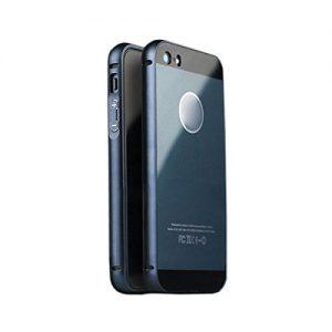 Tongshi-para-iPhone-5-5Snegro-De-aluminio-de-lujo-del-captulo-del-metal-acrlico-Volver-Funda-0