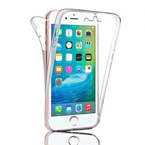 iPhone-6-6S-Plus-transparente-360--Carcasa-Slim-Alta-Proteccin-de-todo-iPhone-6-Dos-Piezas-frontal-y-trasera-rgida-de-silicona-y-TPU-Full-Body-Funda-protectora-0