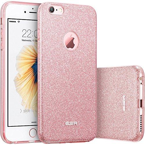 96334bb5ea1 ESR Bling Funda para iPhone 6S Plus / iPhone 6 Plus, Oro Rosa – La ...
