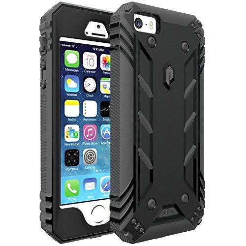 397e469f207 Funda iPhone 5 , Funda iPhone 5S , Funda iPhone SE – Poetic [Serie  Revolución] [Pesada] [Doble Capa] Funda de Protección Hibrida Completa con  Protector de ...