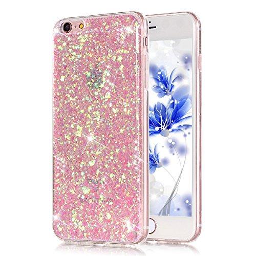 37bcffdf16c iPhone 6/6S plus 5.5 Bling Funda Case, Ukayfe 3D Crystal Centelleo ...